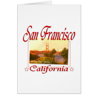 San Francisco California Tarjeta Pequeña