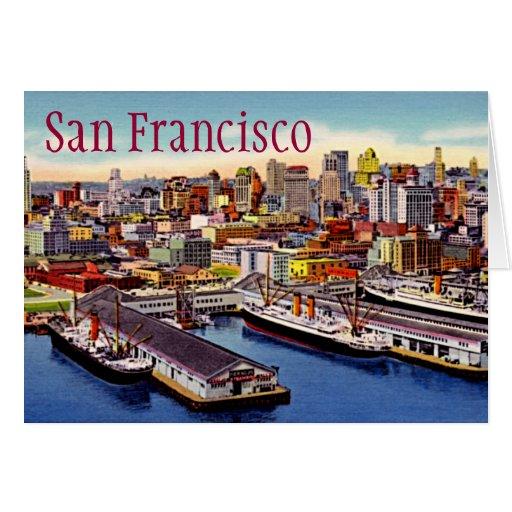 San Francisco, California Tarjeta De Felicitación