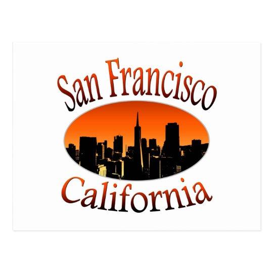 San Francisco California Tarjeta Postal