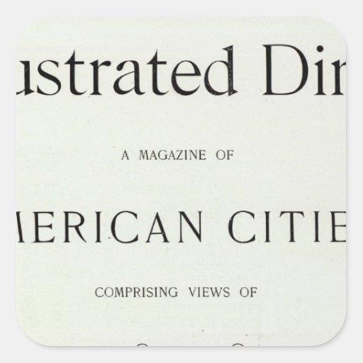 San Francisco California Title Page Square Sticker