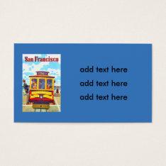 San Francisco California Trolley Car Golden Gate Business Card at Zazzle