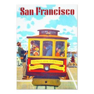 San Francisco California Trolley Car Golden Gate Card