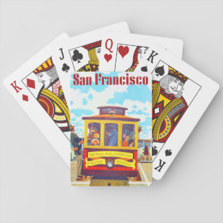 San Francisco California Trolley Car Golden Gate Playing Cards