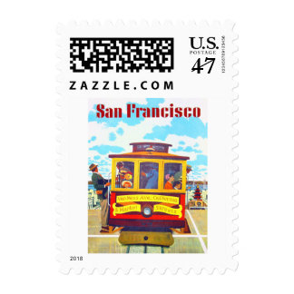 San Francisco California Trolley Car Golden Gate Postage Stamp
