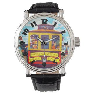 San Francisco California Trolley Car Golden Gate Wristwatch