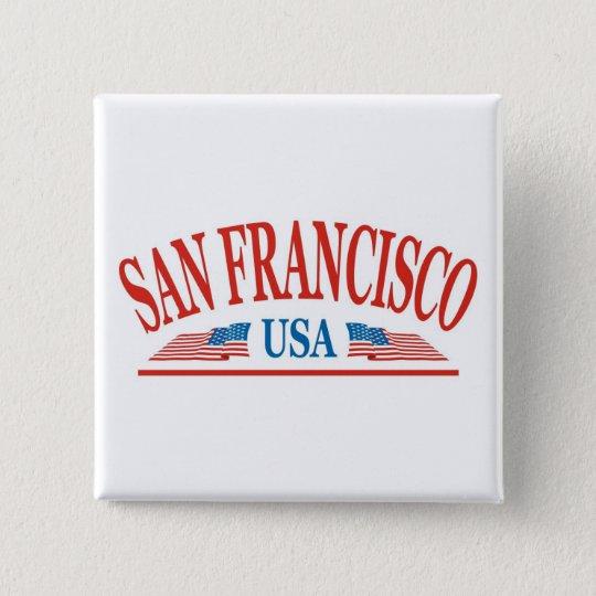 San Francisco California USA Pinback Button