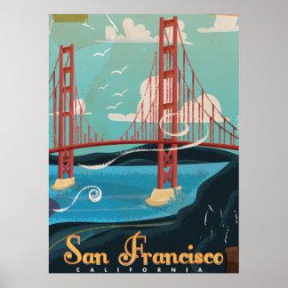 San Francisco California USA Travel poster