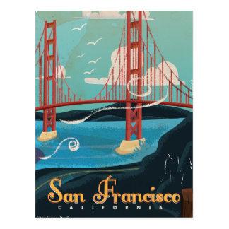 San Francisco California USA Travel poster Postcard