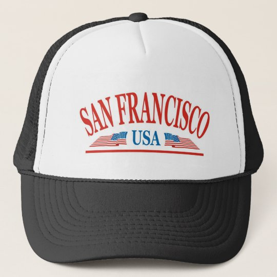 San Francisco California USA Trucker Hat