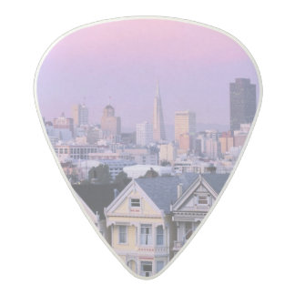 San Francisco, California. View of Victorian Acetal Guitar Pick
