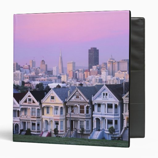 San Francisco, California. View of Victorian Binders