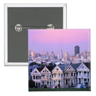 San Francisco, California. View of Victorian Buttons