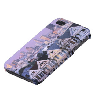 San Francisco, California. View of Victorian Case For iPhone 4