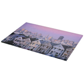 San Francisco, California. View of Victorian Cutting Board