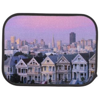 San Francisco, California. View of Victorian Floor Mat
