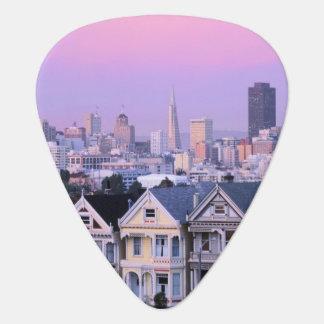 San Francisco, California. View of Victorian Guitar Pick