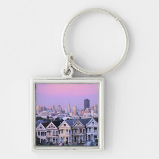 San Francisco, California. View of Victorian Keychain