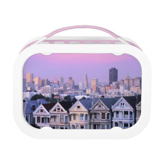 San Francisco, California. View of Victorian Lunch Box