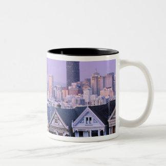 San Francisco California View of Victorian Mugs