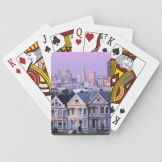 San Francisco, California. View of Victorian Poker Cards