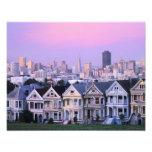 San Francisco, California. View of Victorian Photo Print