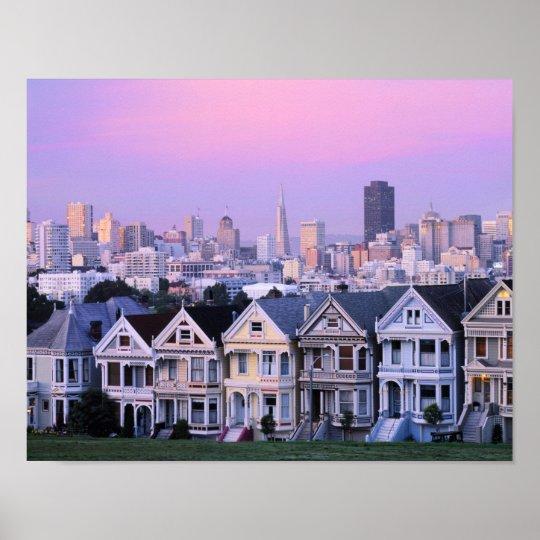 San Francisco, California. View of Victorian Poster