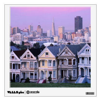 San Francisco, California. View of Victorian Wall Decal