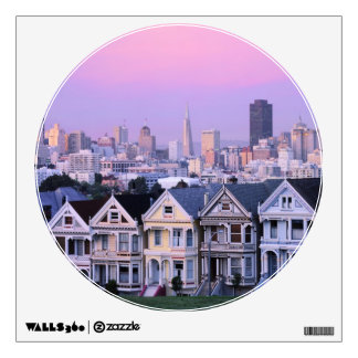 San Francisco, California. View of Victorian Wall Sticker