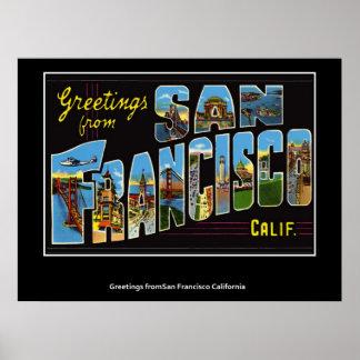San Francisco California Vintage Poster