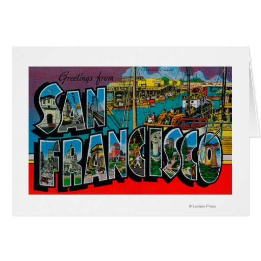 San Francisco, CaliforniaLarge Letter Scenes Greeting Card