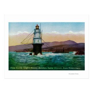 San Francisco, casa ligera de la roca de la milla Tarjeta Postal