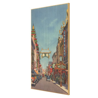 San Francisco, CAStreet Scene of Chinatown Canvas Print