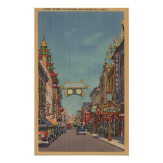 San Francisco, CAStreet Scene of Chinatown Poster