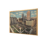 San Francisco, CAUnion Square View Stretched Canvas Print