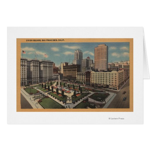 San Francisco, CAUnion Square View Greeting Cards