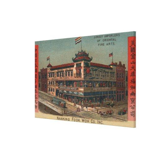 San Francisco, CAView de Nanking Fook Co. Impresiones En Lona Estiradas