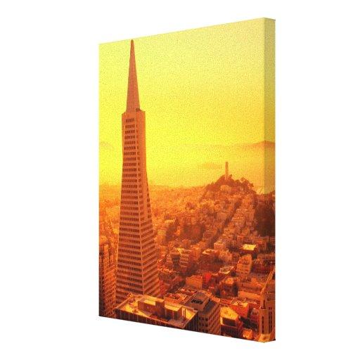 San Francisco céntrico, CA Impresión En Lona