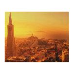 San Francisco céntrico, CA Impresión En Madera