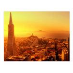 San Francisco céntrico, CA Tarjeta Postal