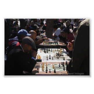 San Francisco Chess Games Poster