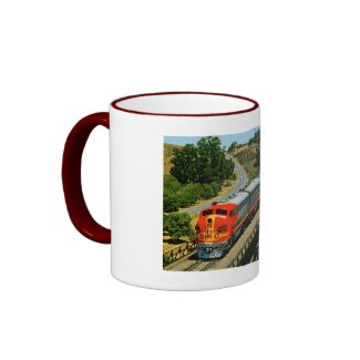 San Francisco Chief Train en Route Vintage mug