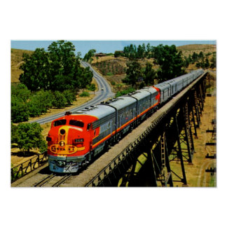 San Francisco Chief Train en Route Vintage Print