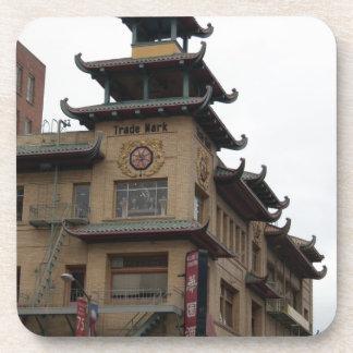 San Francisco Chinatown Architecture Drink Coaster