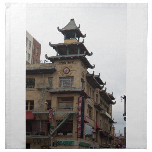 San Francisco Chinatown Architecture Napkins