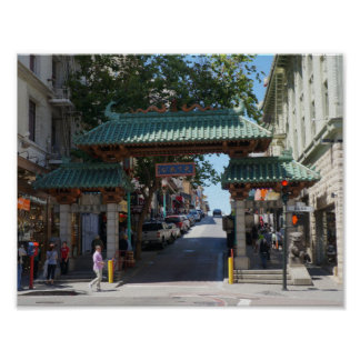 San Francisco Chinatown Gate Poster