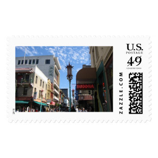 San Francisco Chinatown Photo Postage Stamps