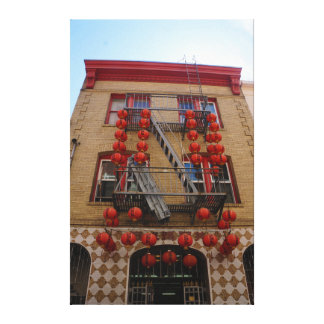 San Francisco Chinatown Temple Canvas
