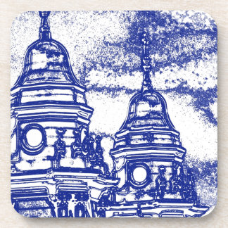 San Francisco Church in Blue Beverage Coaster