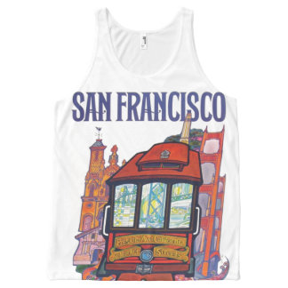 San Francisco city All-Over Print Tank Top