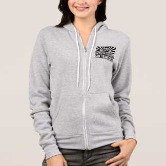San Francisco city and Trolley sun rays background Hoodie